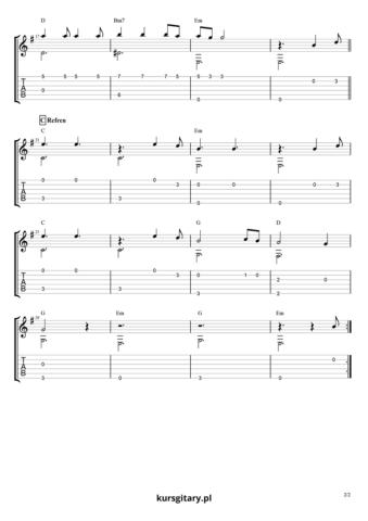 Hallelujah - chwyty i tabulatura - str2